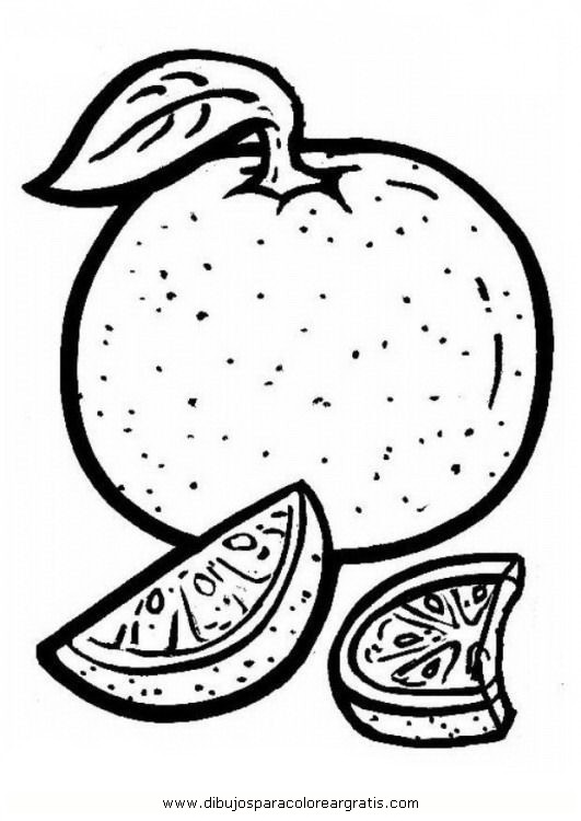 Maestra de Infantil: Frutas. Dibujos para colorear