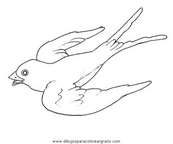 Dibujos de golondrinas para colorear - Imagui