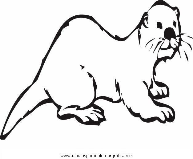 Dibujo nutria_1 en la categoria animales diseños