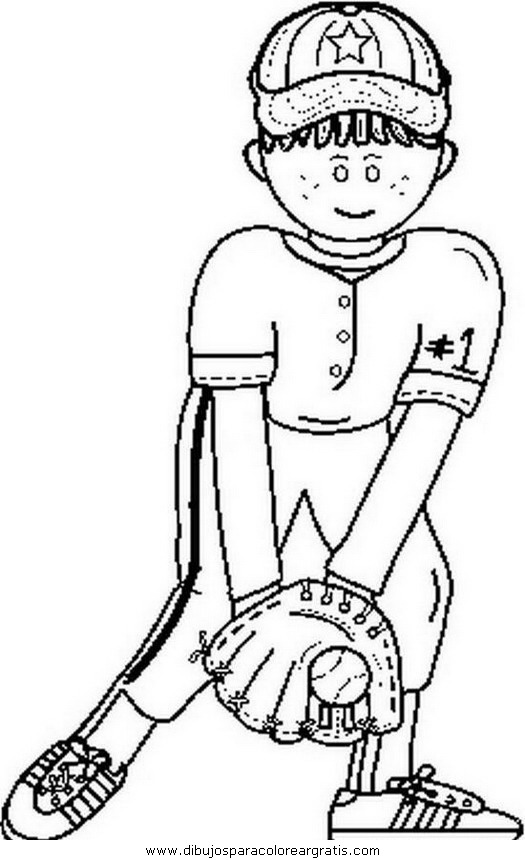 beisbol coloring pages - photo#13
