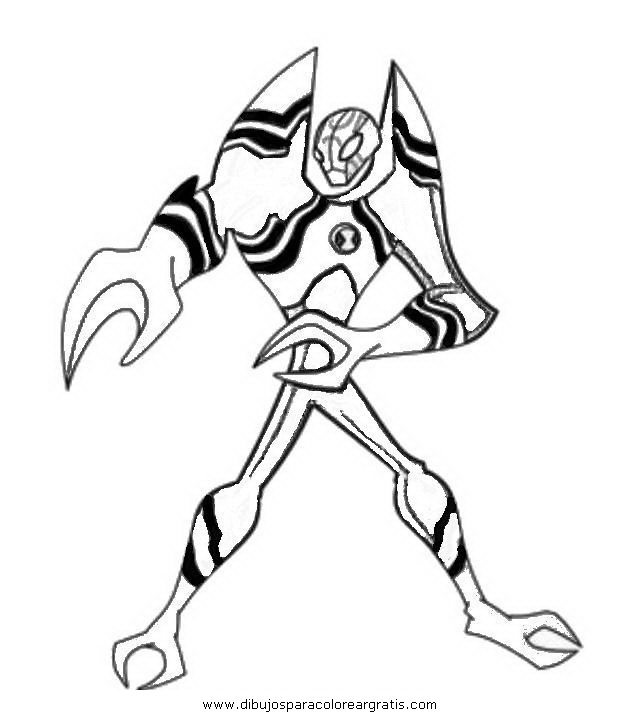 Ben 10 benwolf coloring pages