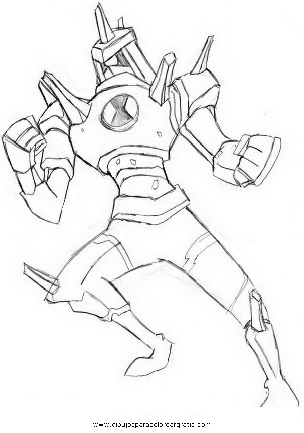 Ben 10 Stone Colouring Pages