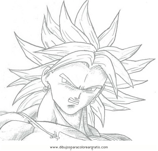 Drag n ball z broly para colorear imagui for Dragon ball z broly coloring pages