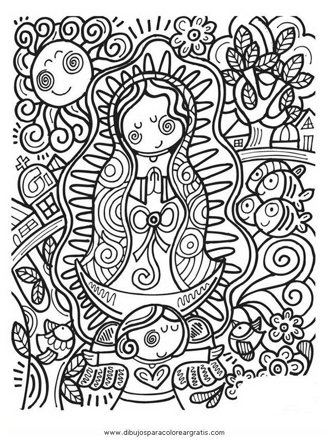 Dibujos para colorear virgen distroller