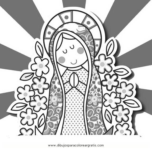Virgen De Guadalupe Para Colorear Distroller Imagui