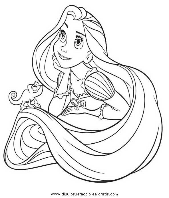 Dibujo rapunzel para colorear - Imagui