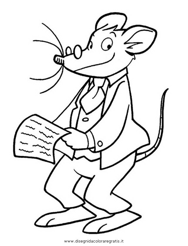 Geronimo Stilton Reading Coloring Page Coloring Pages Geronimo Stilton Colouring Pages