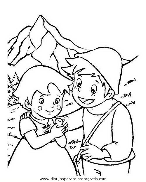 Maestra de Infantil: Heidi y Pedro. Dibujos para colorear.