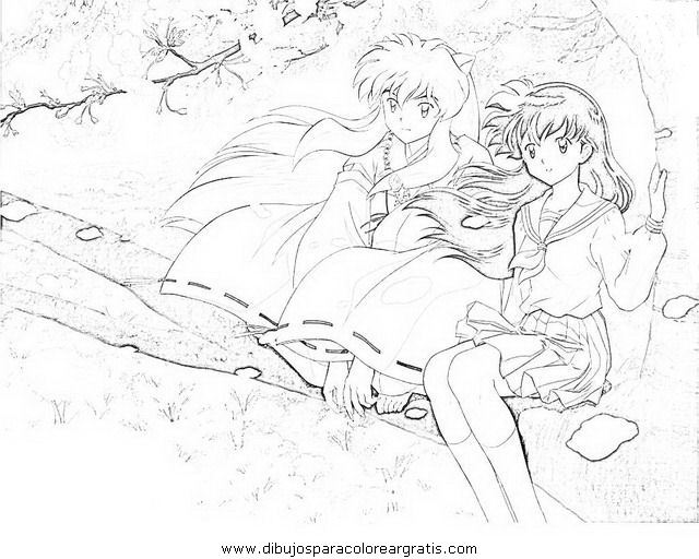 Holiday Coloring Pages Inuyasha Dibujos Animados 22