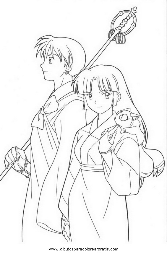online coloring pages inuyasha - photo#23