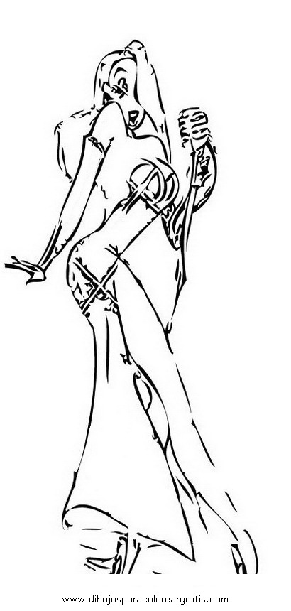 Dibujos jessica rabbit 10 for Jessica rabbit coloring pages
