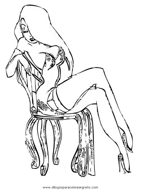 Dibujo jessica rabbit 11 en la categoria dibujos animados for Jessica rabbit coloring pages