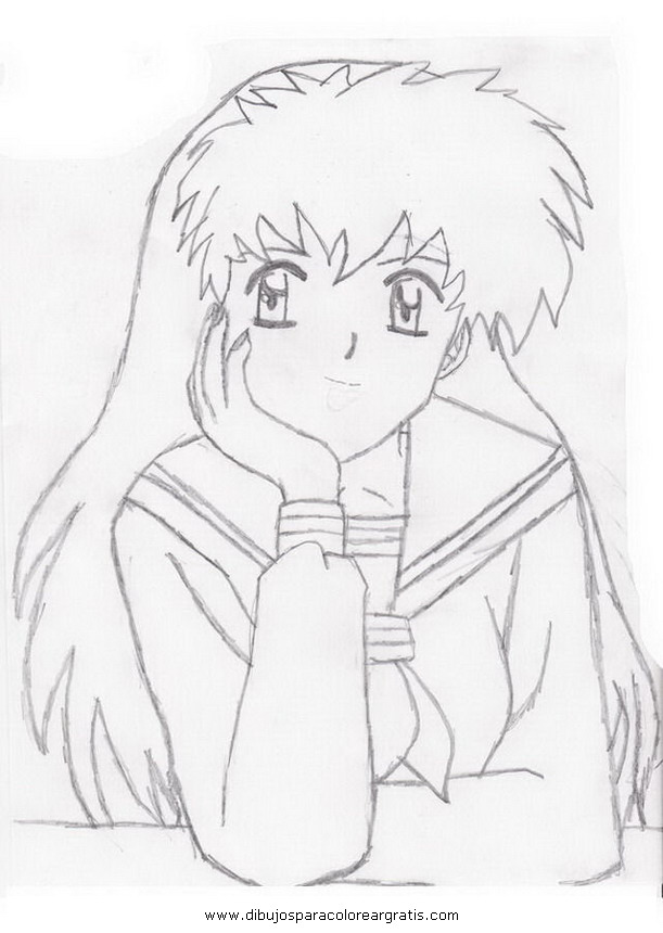 online coloring pages inuyasha - photo#35
