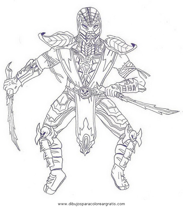 Free coloring pages of martin mortal kombat