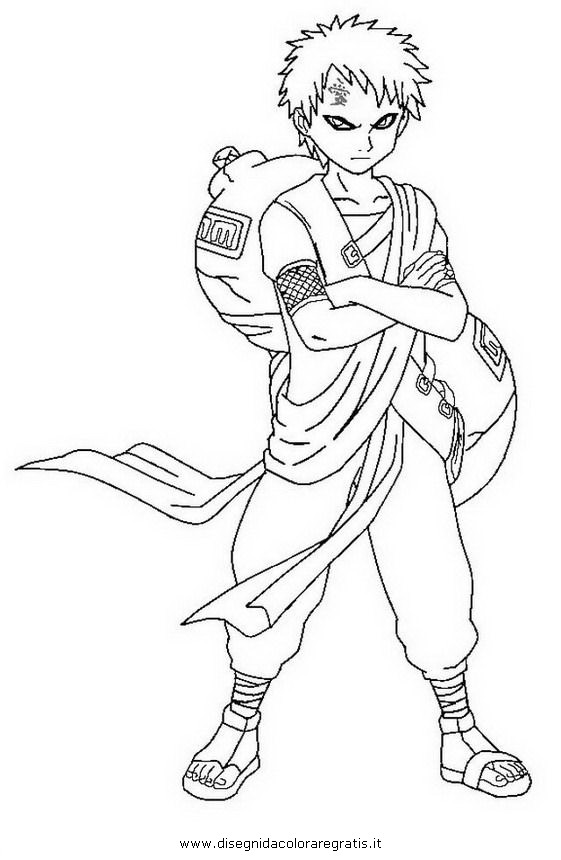 gaara coloring pages - photo#35