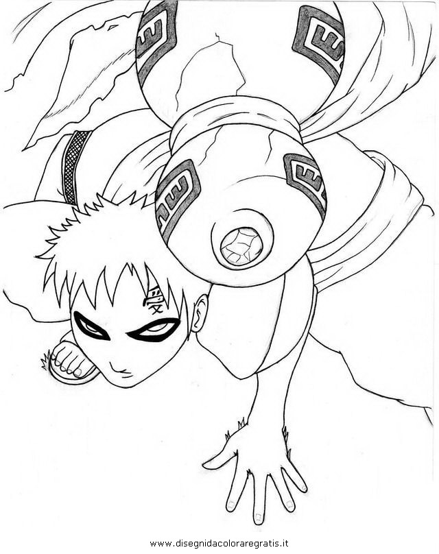 gaara coloring pages - photo#11