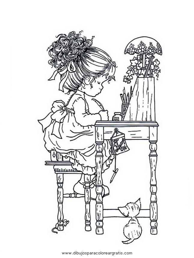 Disegni da colorare Sarah kay, disegni da stampare