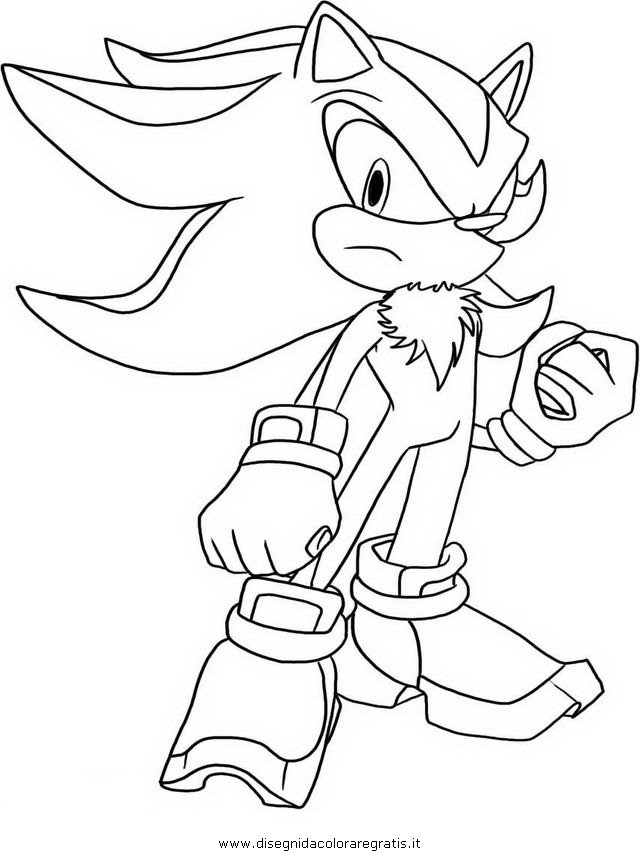 sonic coloring pages shadow - photo#7