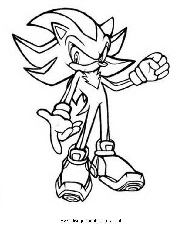 Personajes de sonic coloring pages