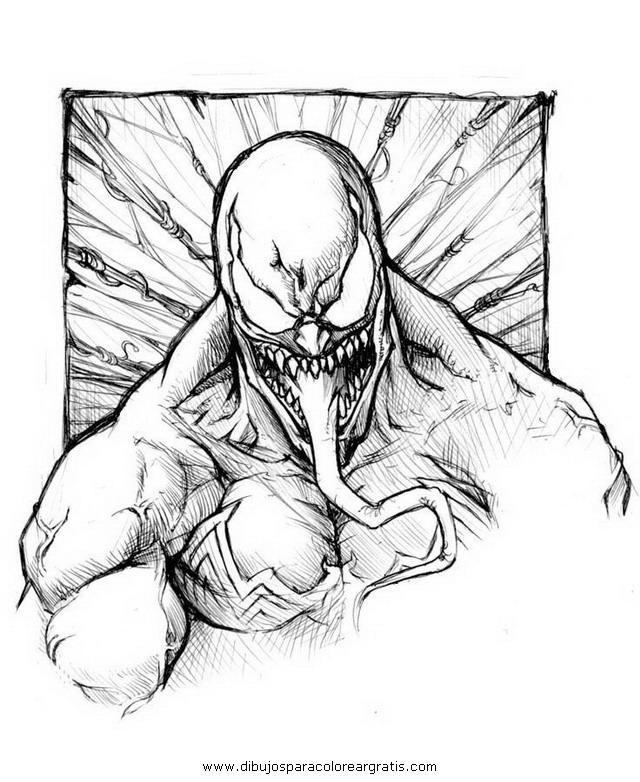Dibujo Para Colorear Venom