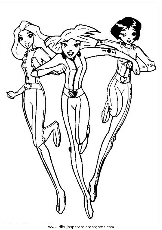 Cartones animados totally spies 01 - Totally spies coloriage ...