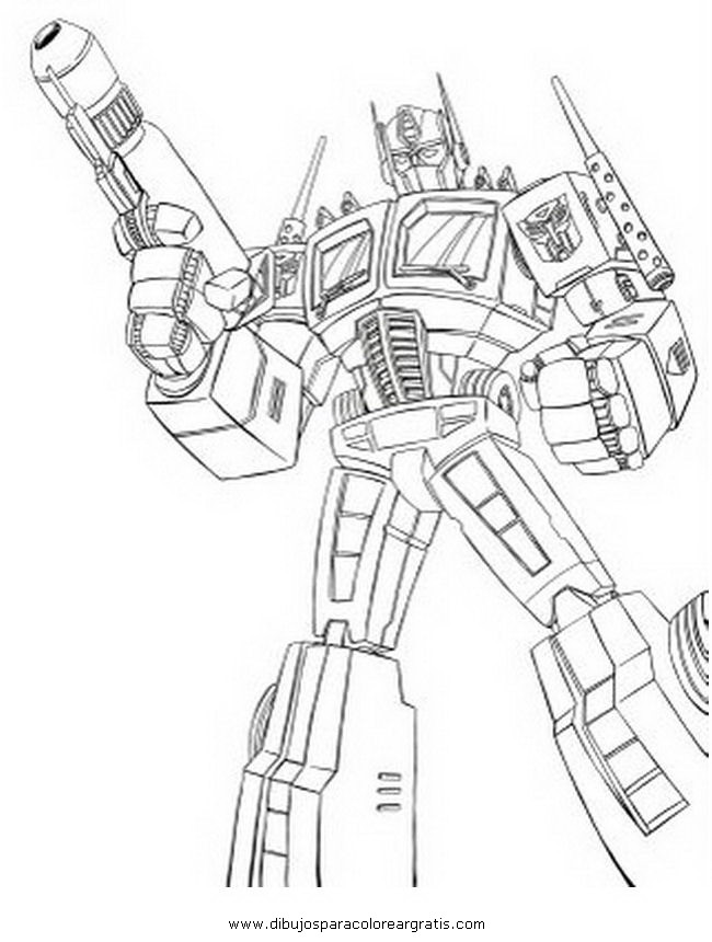 Dibujo Transformers Optimus Prime 4 En La Categoria