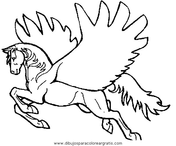 horses and unicorns coloring pages - photo#27