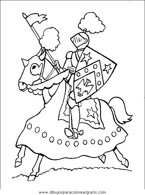Dibujo edad media 02 en la categoria geografia dise os - Cavaliere libro da colorare ...