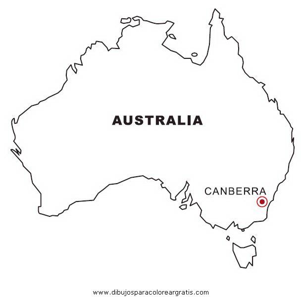 Dibujo australia en la categoria geografia diseños