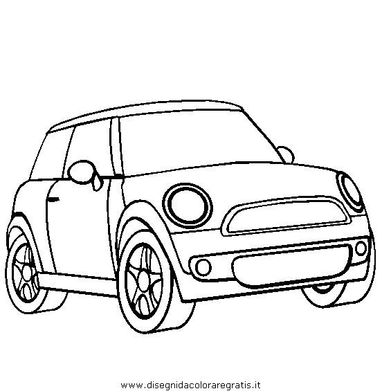 free coloring pages of mini cooper