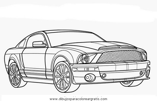 free mustang bos coloring pages