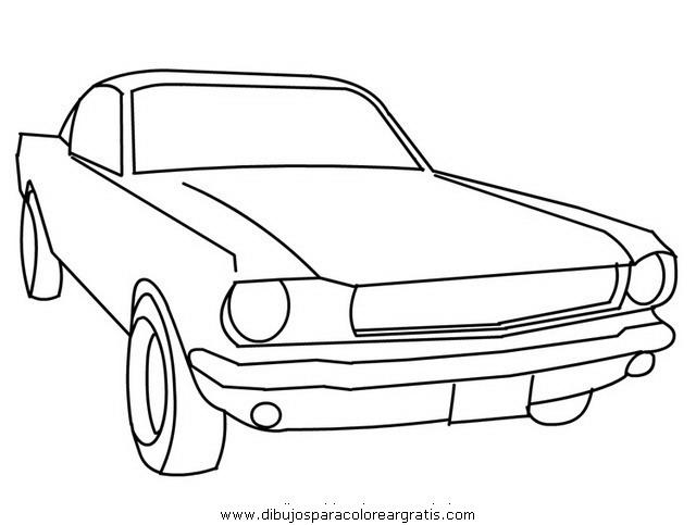 best Dibujos Para Colorear Carros Mustang image collection