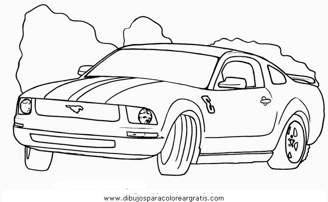 Coches Tuning Para Colorear Ford Mustang Imagui