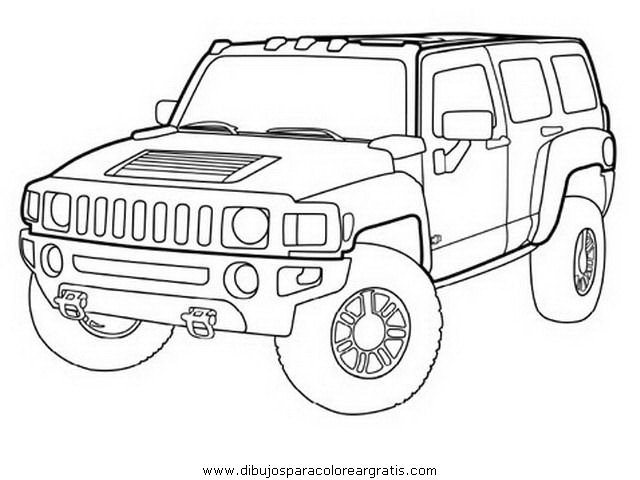 hummer free coloring pages - photo#10