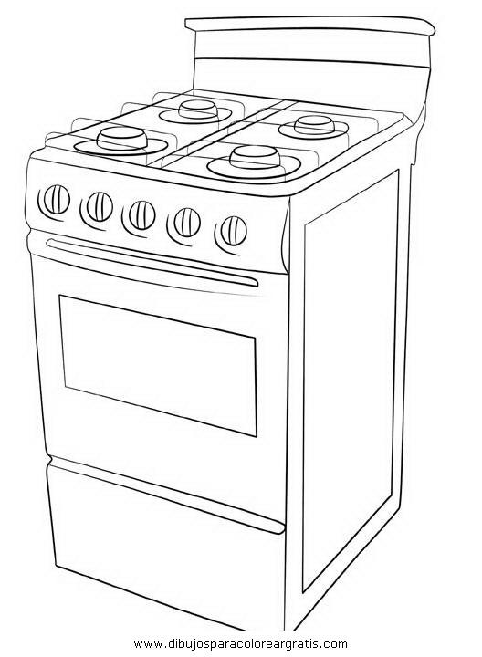 Dibujo de estufa para colorear - Imagui