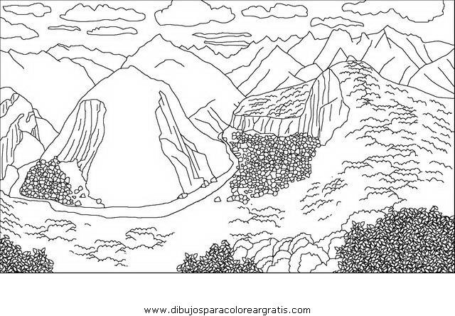 Dibujos De Machupicchu Para Pintar Machu Picchu Dibujo Para Coloriar
