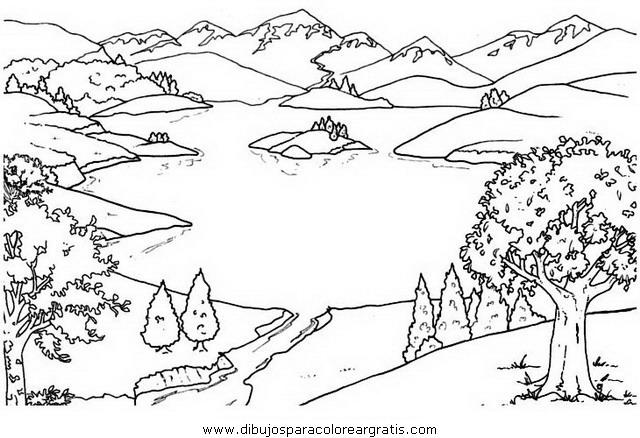 Dibujo de un lago para colorear imagui for Paesaggi semplici da disegnare
