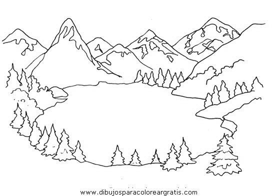Dibujos de lagos imagui for Paesaggi semplici da disegnare
