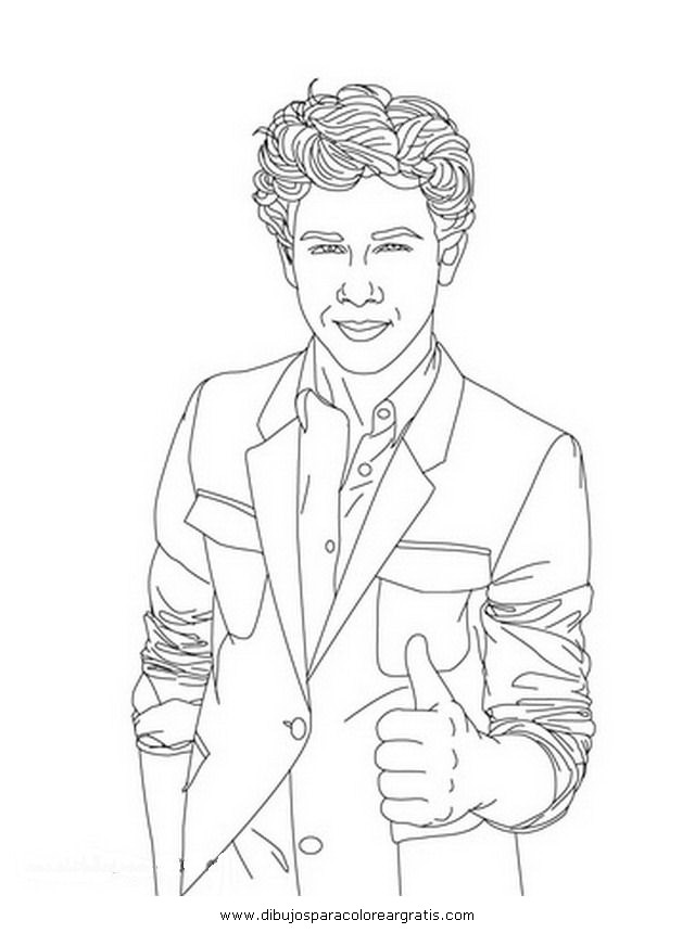 Dibujo jonas brothers 17 en la categoria mixtos dise os for Jonas coloring pages
