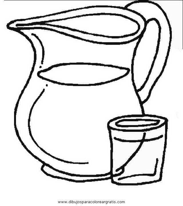 Imagenes De Baño Para Colorear:Dibujos Para Colorear Vaso De Agua
