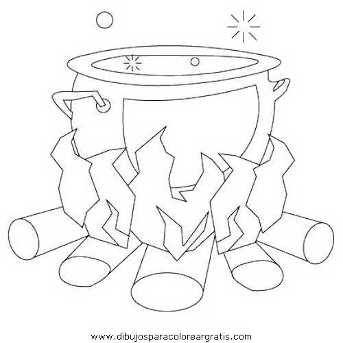 Una olla hirviendo para colorear - Imagui