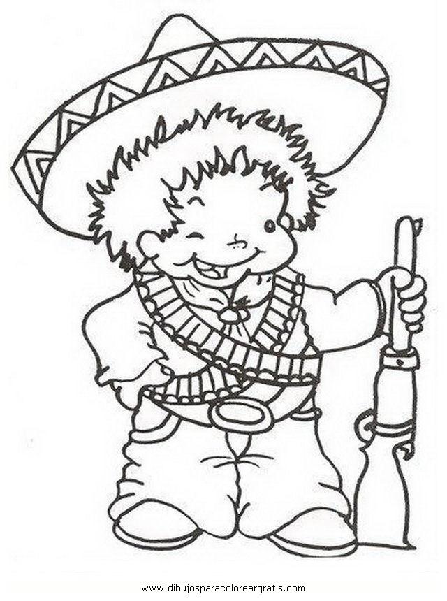 Revolucion Mexicana Para Niños Para Colorear Para Colorear Revolucion