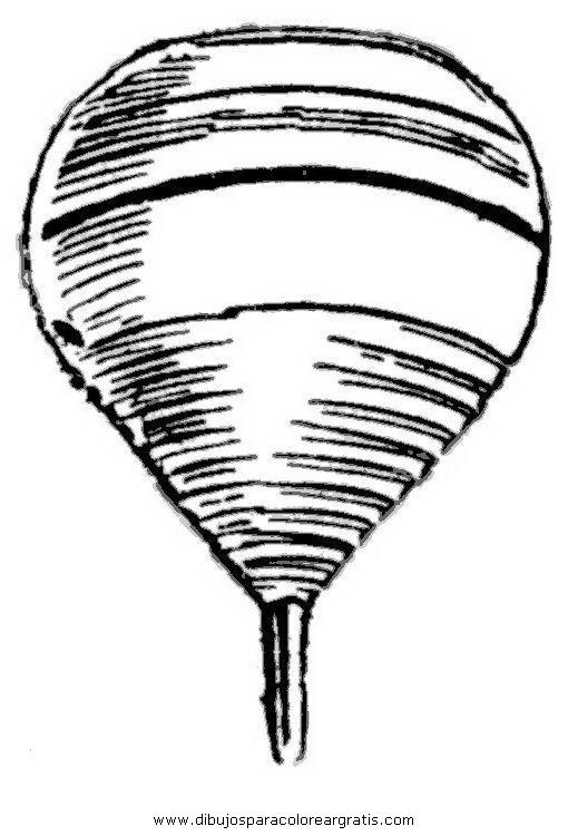Dibujo del trompo para colorear - Imagui