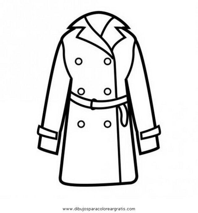 Imagen de un abrigo para colorear