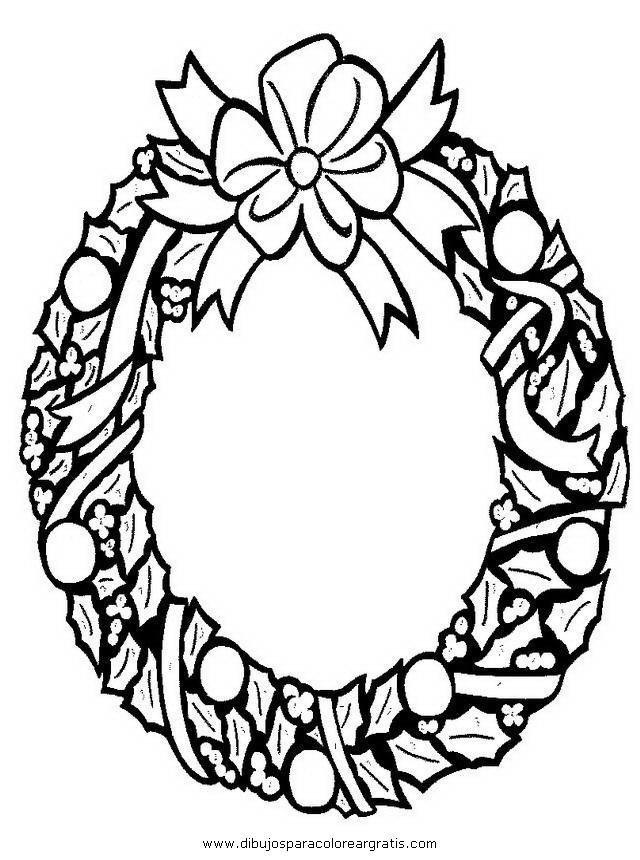 Dibujo guirnaldas 17 en la categoria navidad diseos for Guirnaldas para imprimir