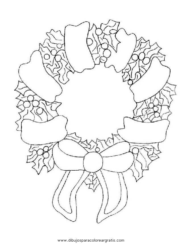 Asombroso Página Para Colorear Guirnalda De Navidad Inspiración ...