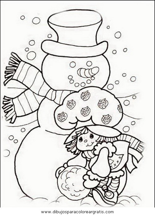 Free coloring pages - Munecos de navidad ...