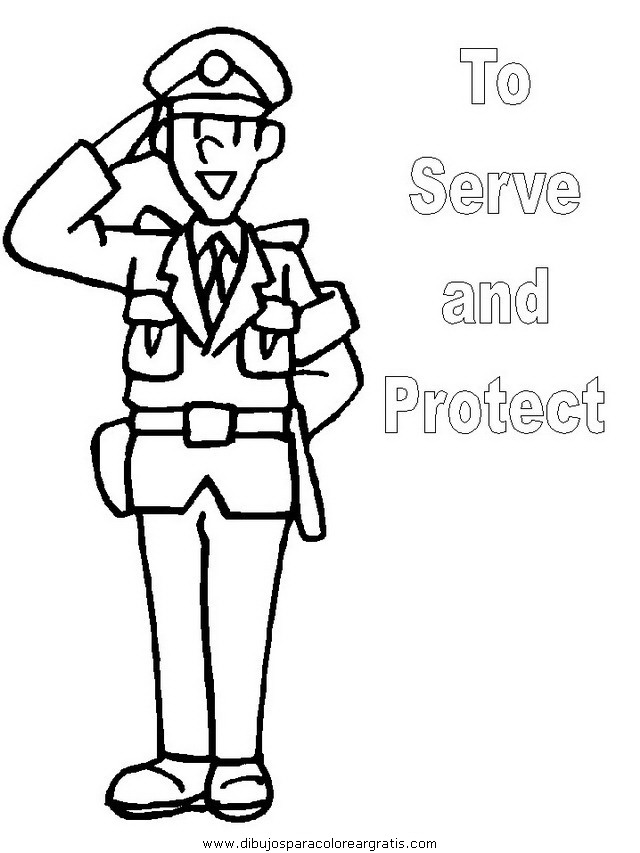 police coloring pages - dibujos policia 03