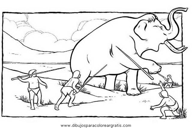 Dibujos De Prehistoria Para Ninos Para Colorear: Dibujo Prehistoria_03 En La Categoria Personas Diseños