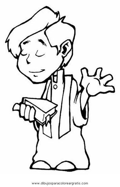 Dibujo sacerdote 4 en la categoria religiones dise os for Angeli per bambini da colorare